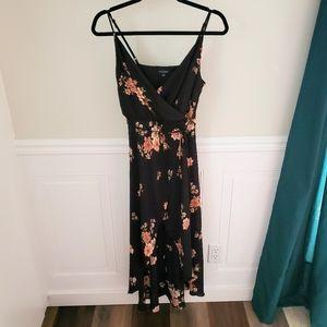 Eclipse floral print hi-low maxi dress